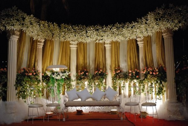 The Stage at the reception.......