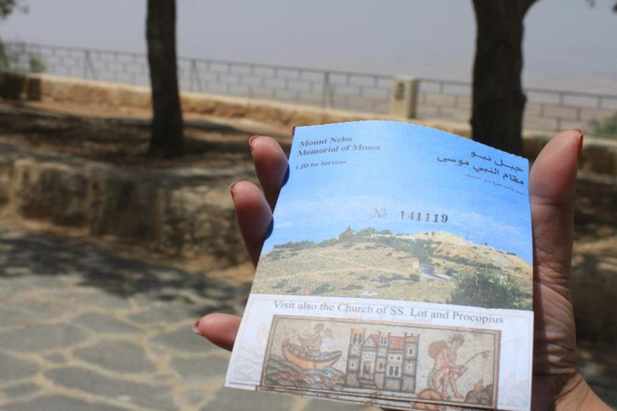 A few people didn't know they had to buy tickets to Mount Nebo