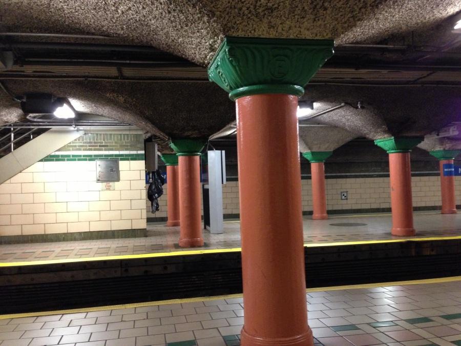 Newport Pavonia PATH platform- Station between Hoboken and Grove Street..