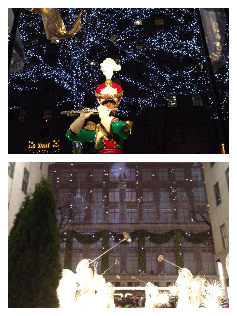 The light and sound show every 7 minutes on the Saks Fifth Ave building!