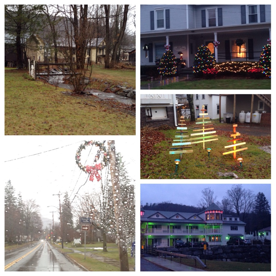 Pretty town, all decorated for Christmas:)