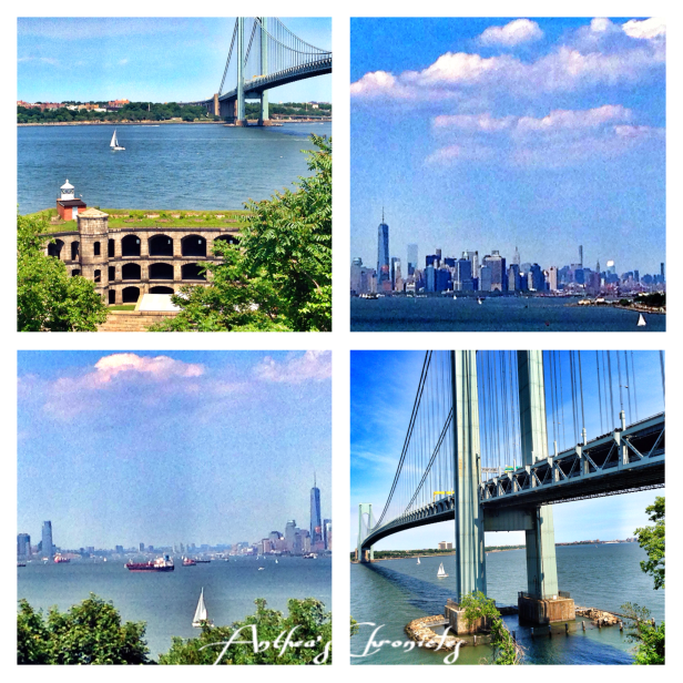 Fort Wadsworth, with views of the Verrazano bridge, and also a pic of the sea between NY and NJ!